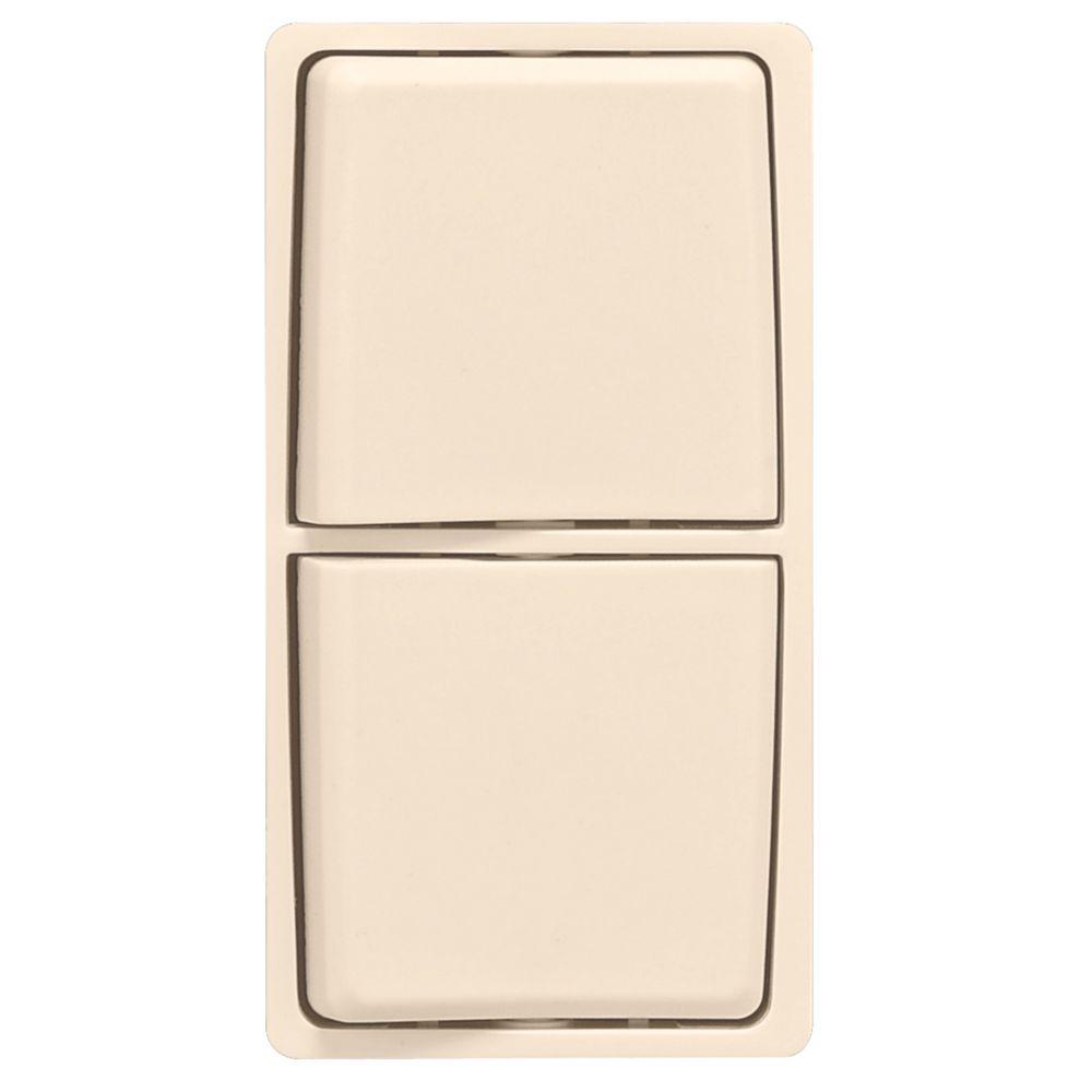 Trousse de changement de couleur Renu pour interrupteurs combinés Renu, en blanc Côte d'Or.