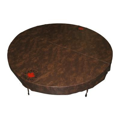Canadian Spa Company 80-inch Dia Round Hot Tub Cover with 5-inch/3-inch Taper in Chestnut