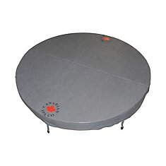 78-inch Dia Round Hot Tub Cover with 5-inch/3-inch Taper in Grey