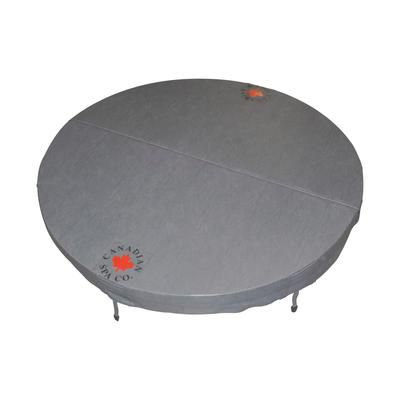 Canadian Spa Company 78-inch Dia Round Hot Tub Cover with 5-inch/3-inch Taper in Grey