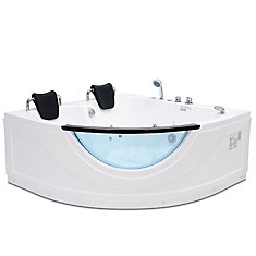 2 Person Corner Rounded Whirlpool Bathtub