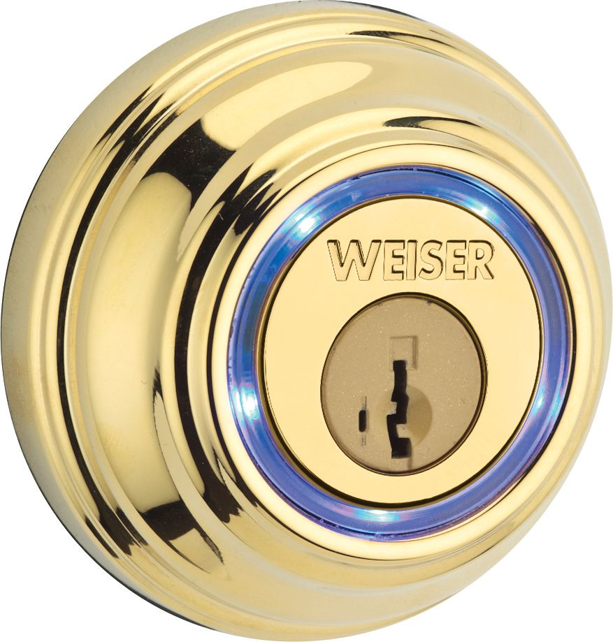 Kevo Polished Brass Bluetooth Deadbolt