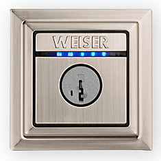 Kevo Contemporary Electronic Deadbolt Satin Nickel