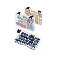 11 In 3-Pack Parts Bin Organizer