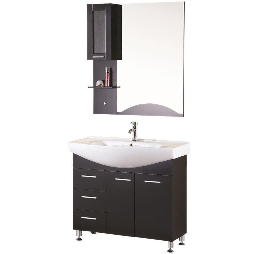 Design Element Sierra 40.5-inch W Vanity in Brown
