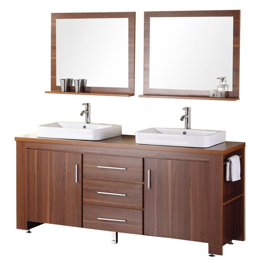 Fresca Torino 72 Inch W Double Vanity In White Finish With