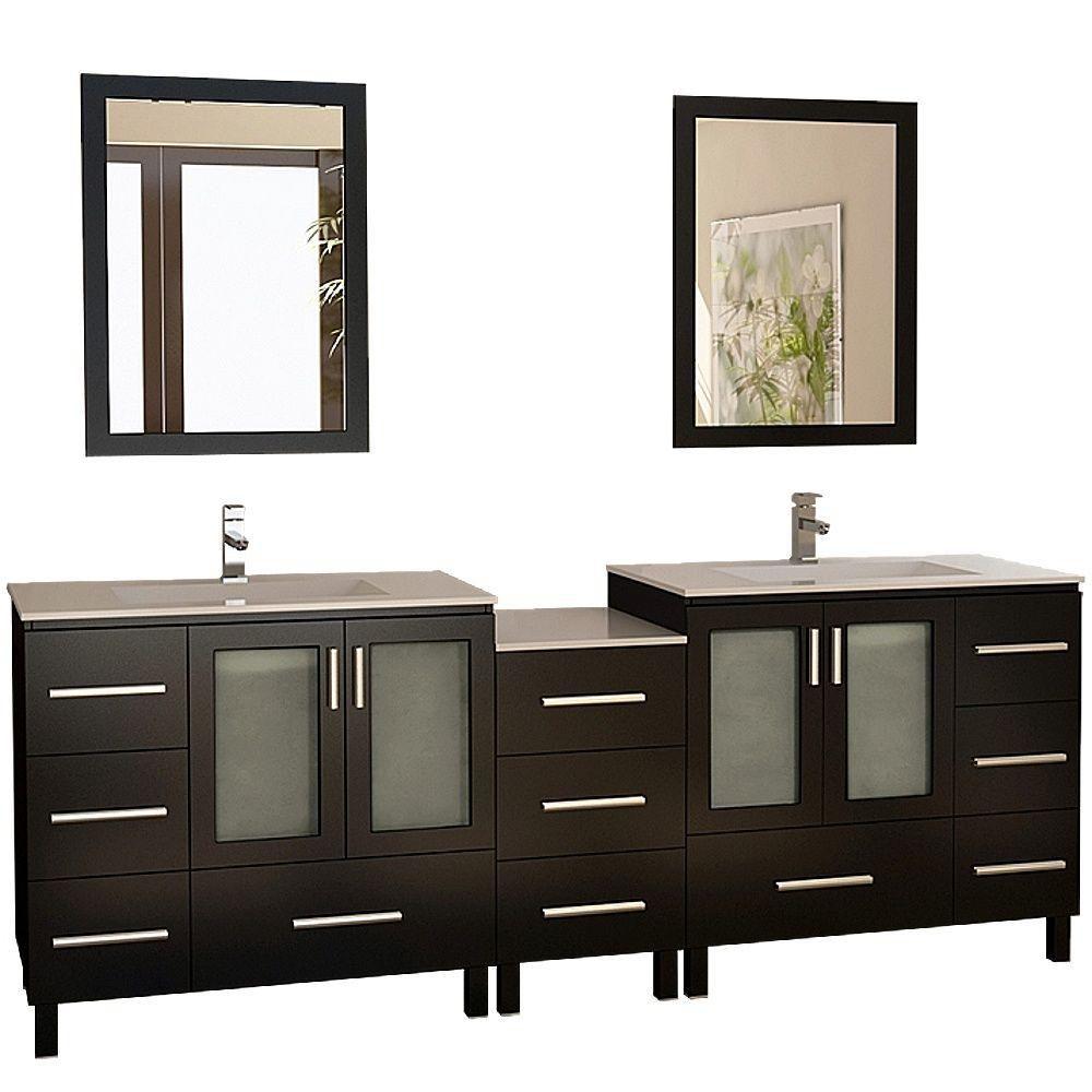 Design element meuble double vasque galatien de 88 po for Robinet salle de bain home depot