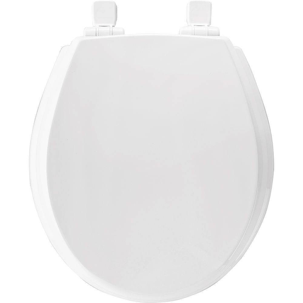 Round Wood Toilet Seat with Whisper Close<sup>®</sup> and Easy Clean & Change Hinge� in White