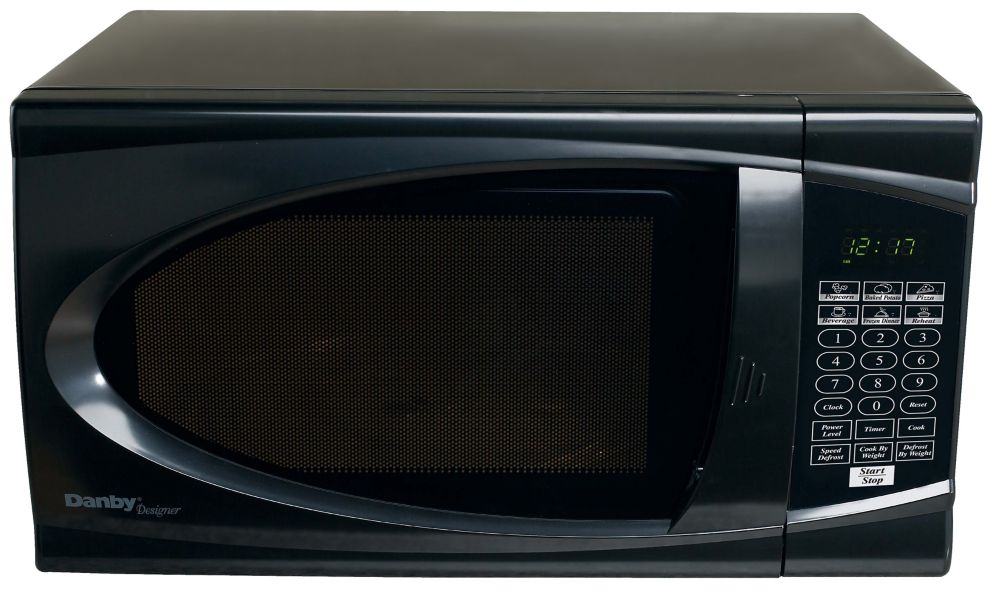 Designer 0.7 cu. ft. Countertop Microwave in Black