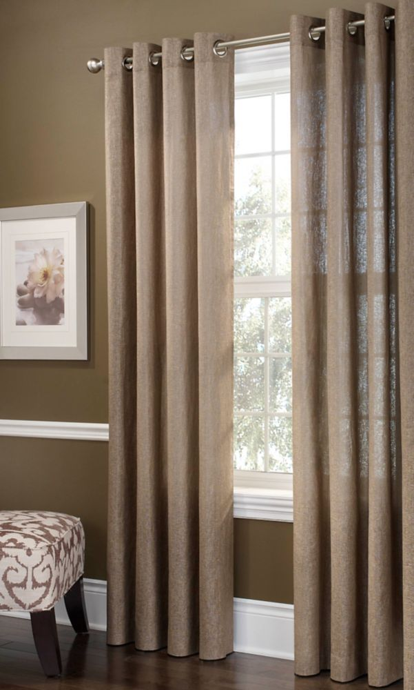 Chambray Curtain, Monk'S Cloth - 52 Inches X 84 Inches