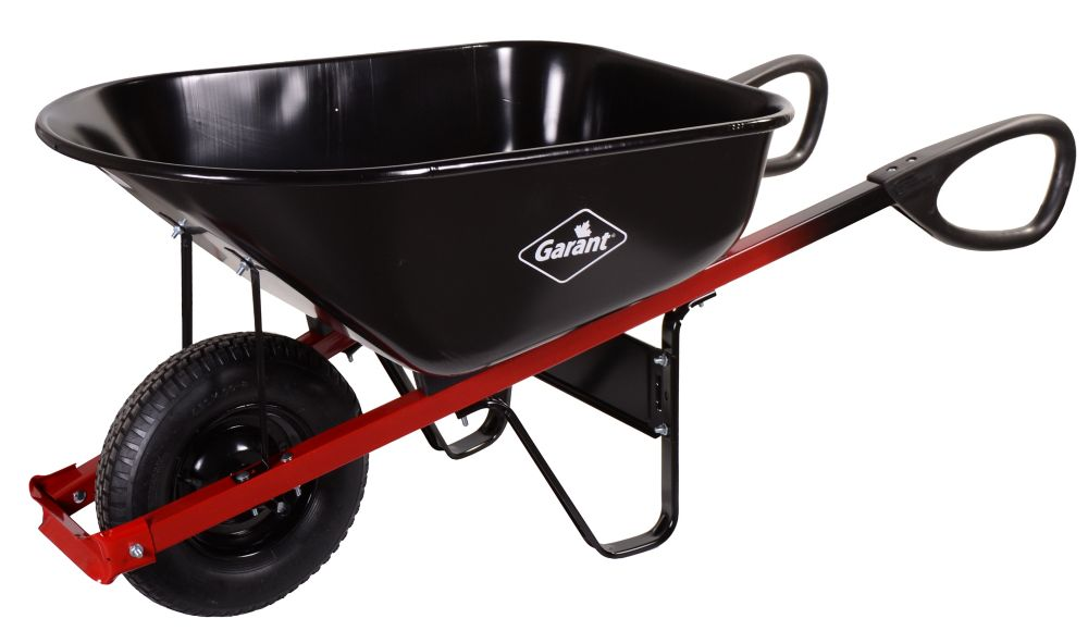 6 Cubic Feet Steel Wheelbarrow With Ergo Loop Grips