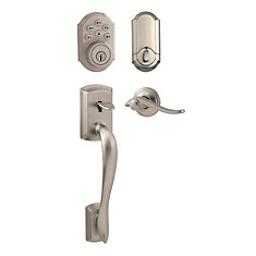 Avalon Satin Nickel Keyless Entry Handleset with SmartCode