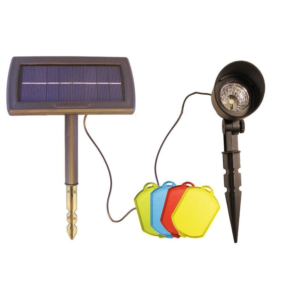 Projecteur solaire avec lentilles multicolores