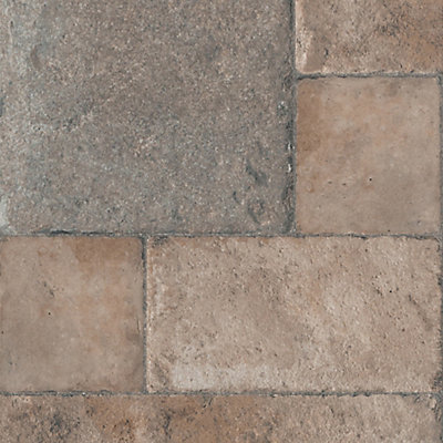 Faus 8mm Thick Tuscan Stone Bronze Laminate Flooring Sample The