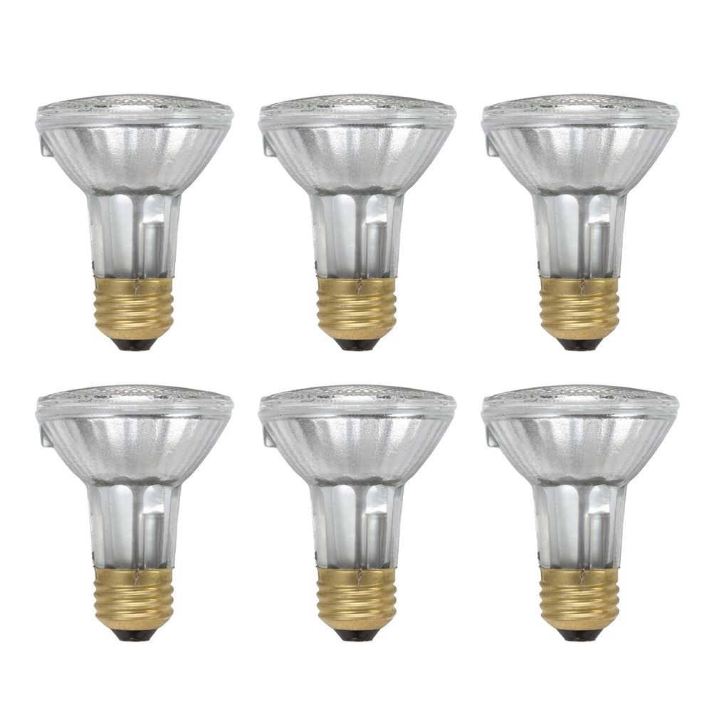 Halogen 50W PAR20 Flood- Case of 6 Bulbs
