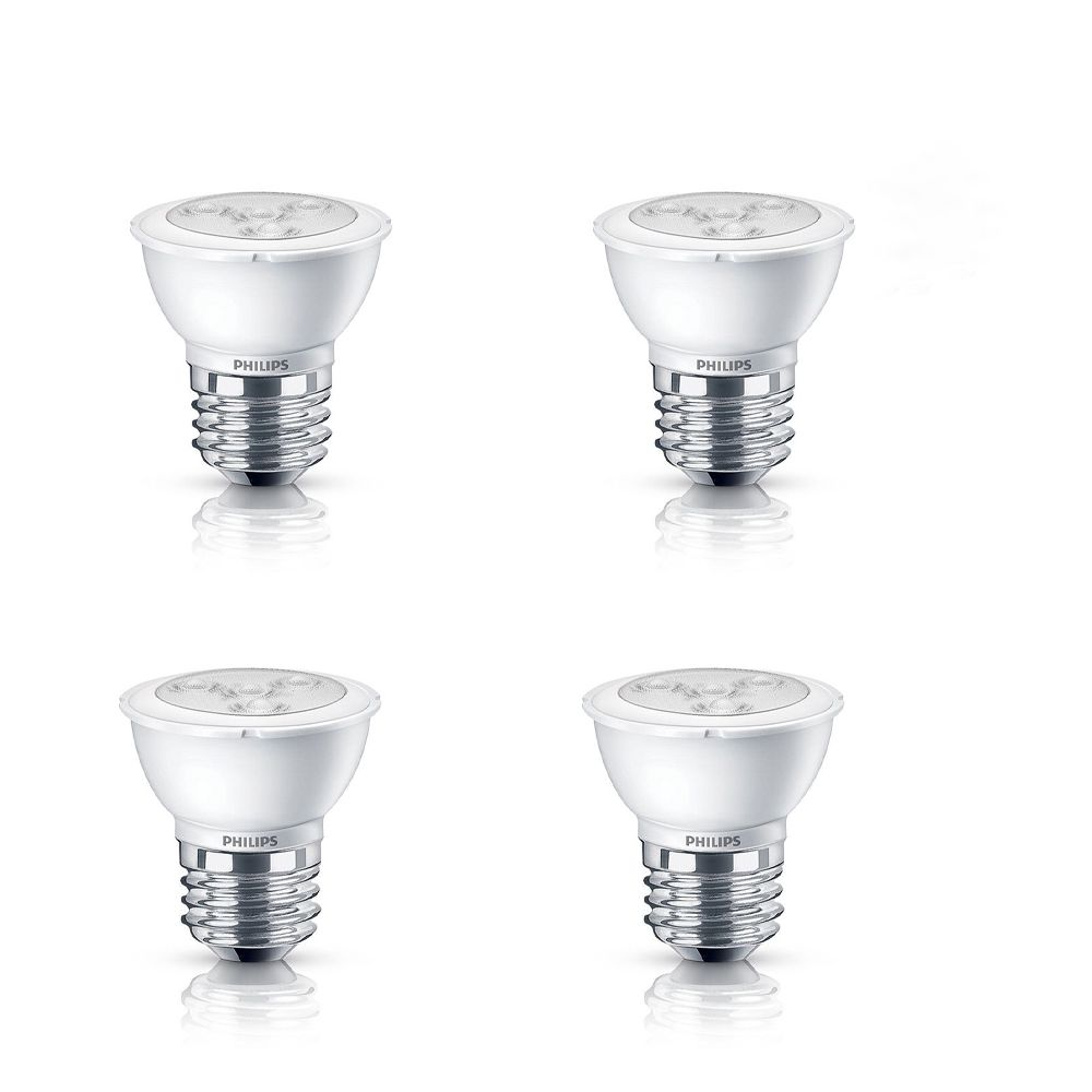 LED 4.5W = 50W PAR16 Bright White (3000K) - Case of 4 Bulbs