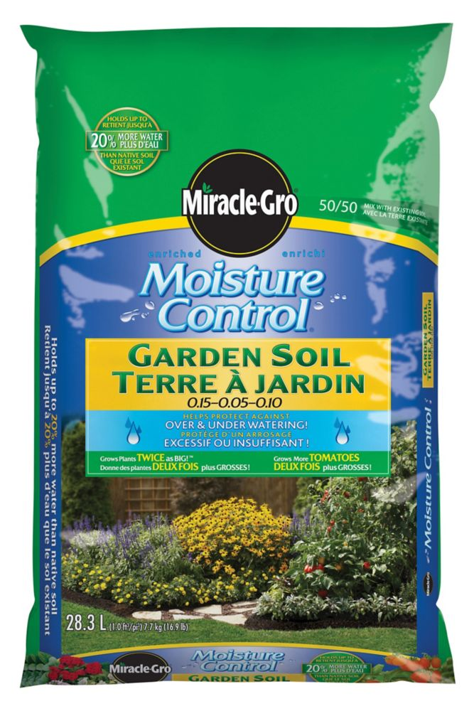 Miracle gro miracle gro moisture control garden soil 28 3l for Soil home depot