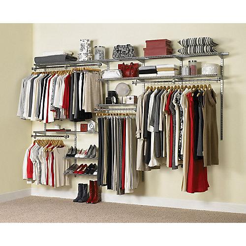 Configurations custom closet kit 6ft to 10ft