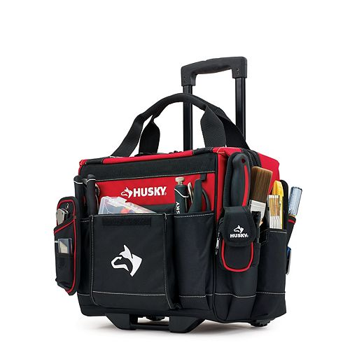 HUSKY 14-inch Rolling Tool Tote