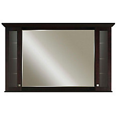 Manhattan 60 Inches Surface-Mount Mirrored Medicine Cabinet in Espresso (Faucet not included)