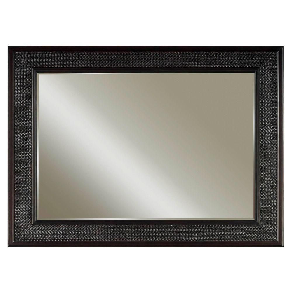 London 36 Inches L x 60 Inches W Wall Mirror in Espresso (Faucet not included)