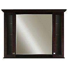 Manhattan 48 Inches Surface-Mount Mirrored Medicine Cabinet in Espresso