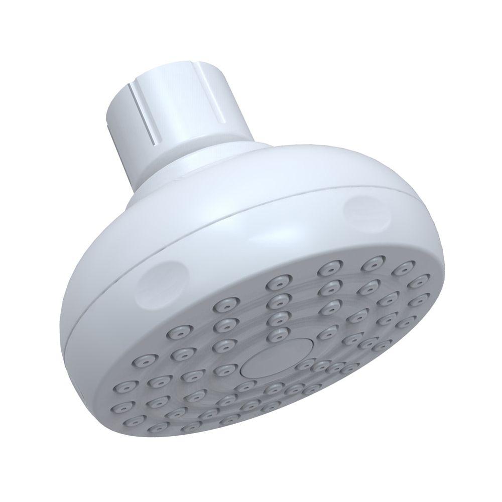 Full Spray Single Function Showerhead - White