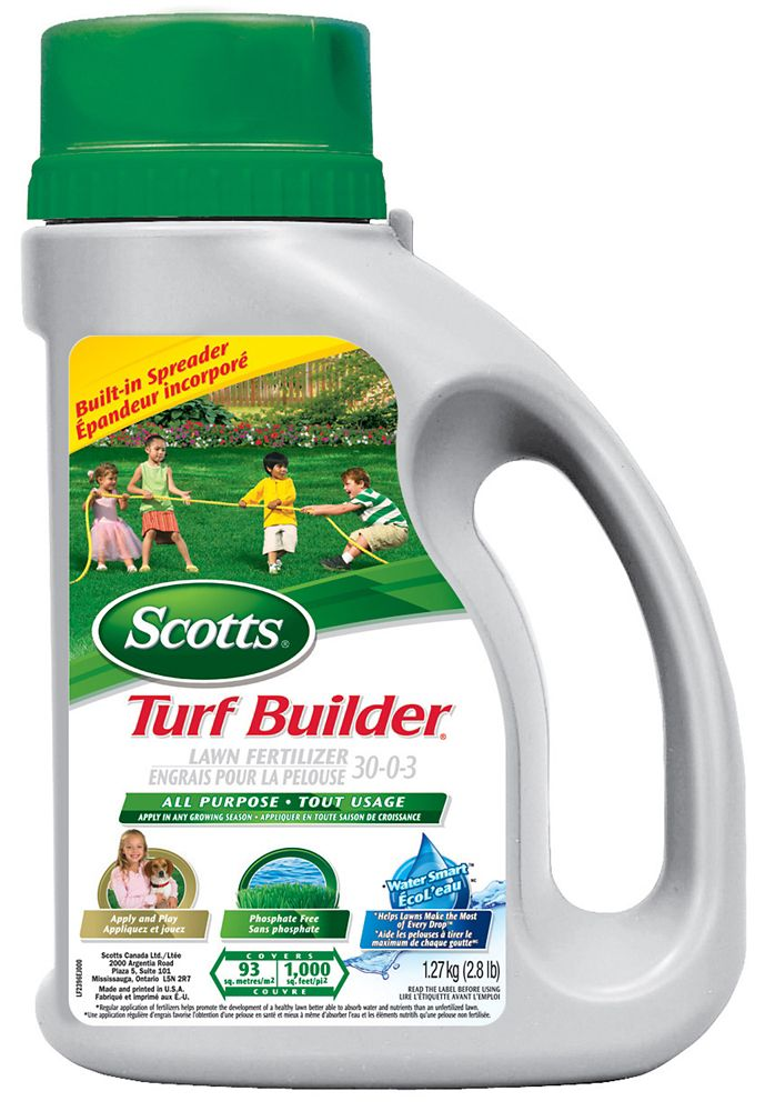 Engrais pour la pelouse Scotts Turf Builder 30-0-3 Bidon