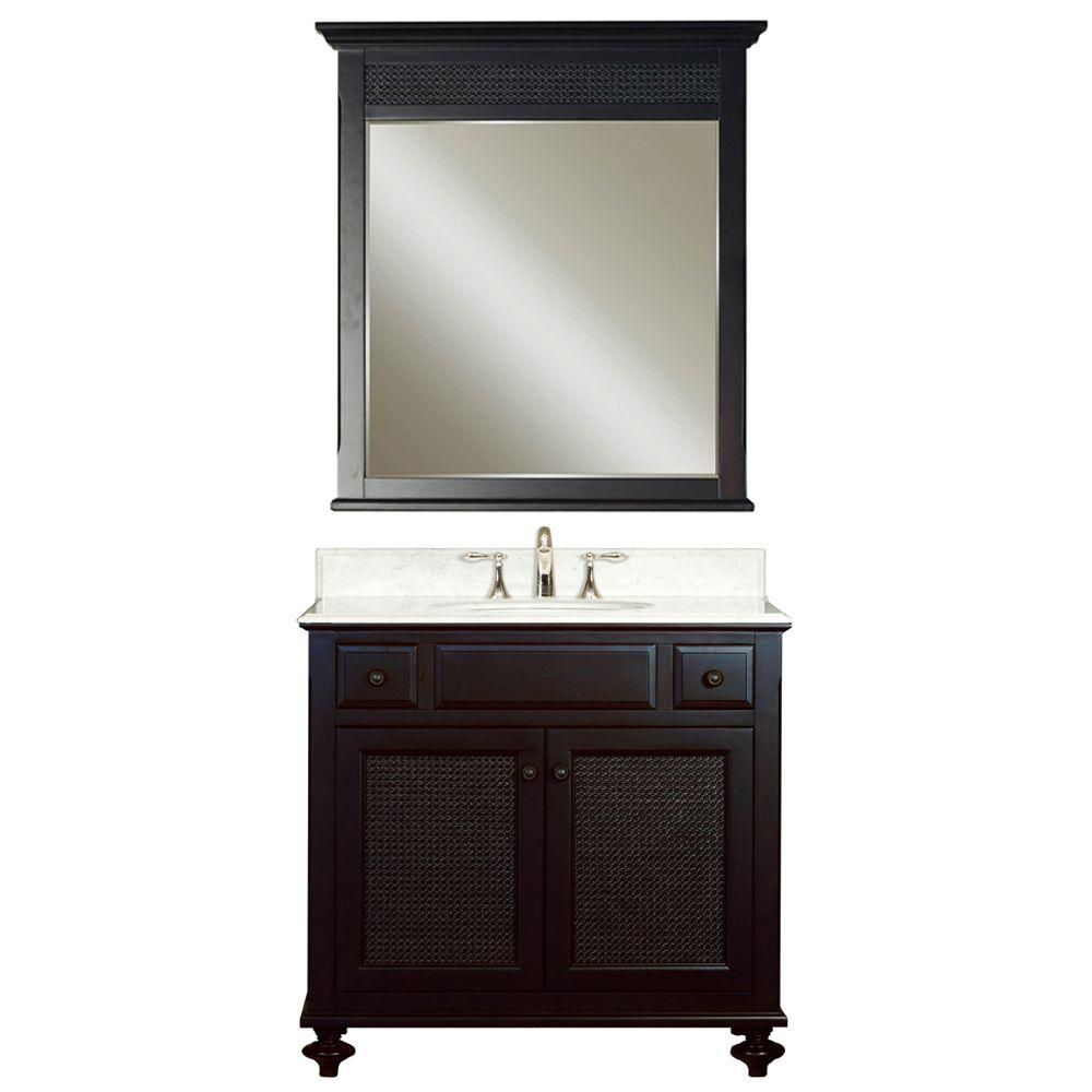 Water Creation London 36 Inch W Vanity In Dark Espresso With Marble Top In Ca