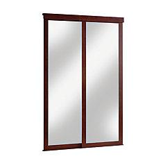 porte miroir 60 pouces encadrement de bois