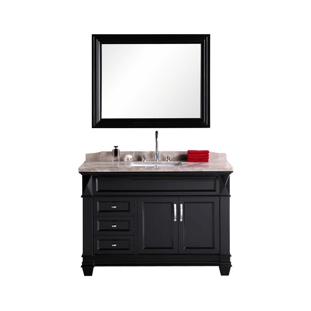 element hudson san marino 48 inch w vanity in espresso with marble top