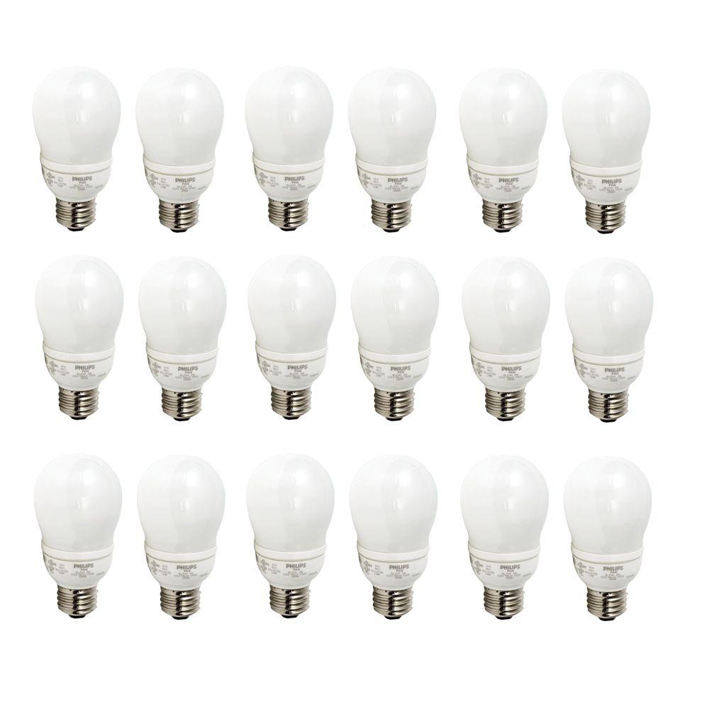 LFC Domestique EnergySaver 9W = 40W Blanc doux (2700K) - Cas de 18 Ampoules