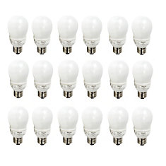 CFL 9W = 40W A-Line (A19)  Household Soft White (2700K)  - Case of 18 Bulbs