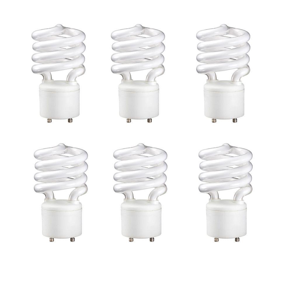 GU 24 Mini Twister 23W = 100W blanc doux (2700K) - Cas de 6 Ampoules