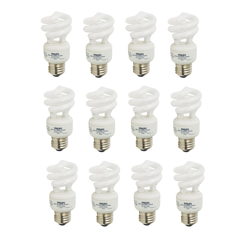 CFL 9W = 40W Mini Twister Soft White (2700K) - Case of 12 Bulbs