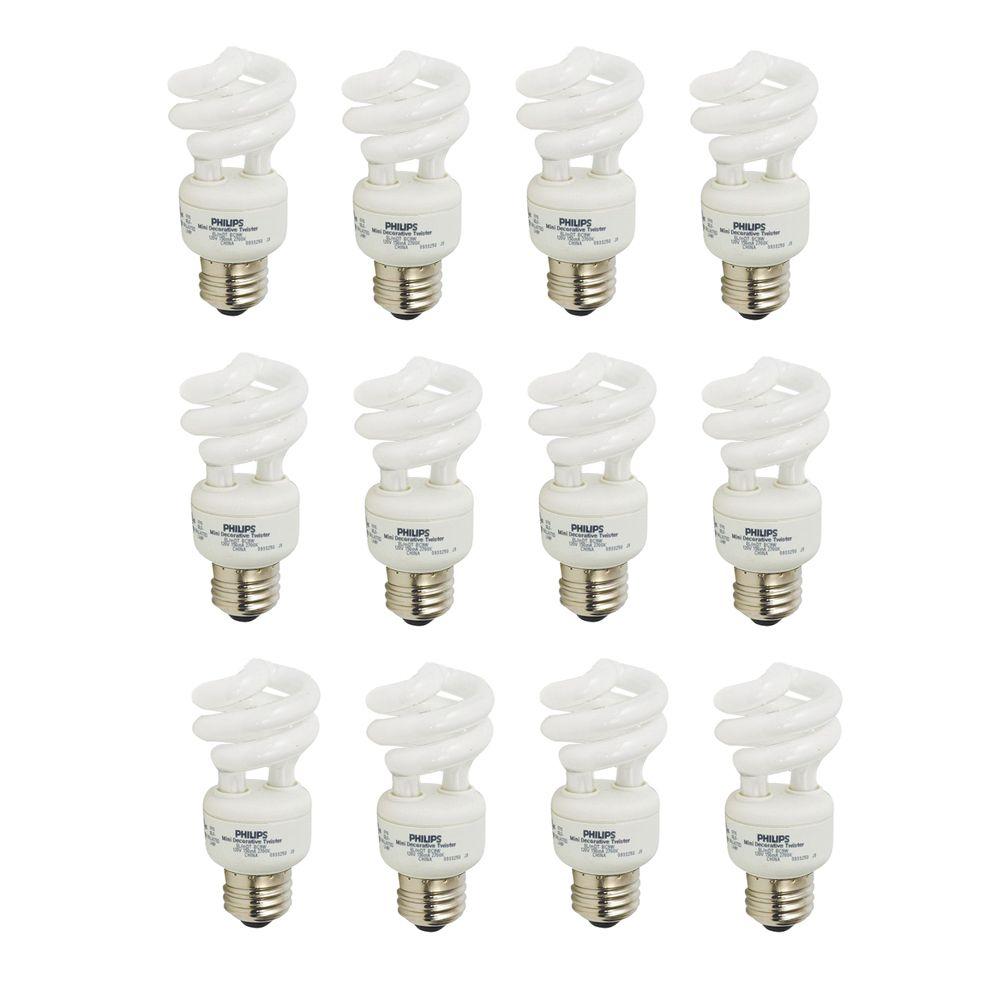 LFC Mini Twister EnergySaver 9W = 40W Blanc doux (2700K) - Cas de 12 Ampoules