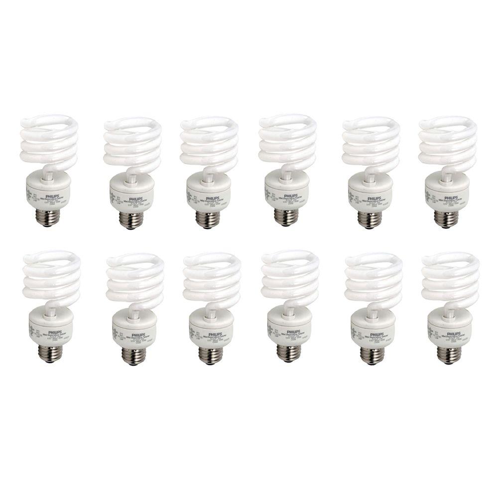 CFL 23W = 100W Mini Twister Daylight (6500K) - Case of 12 Bulbs