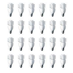 Philips CFL 13W = 60W Mini Twister Daylight (6500K) - Case of 24 Bulbs