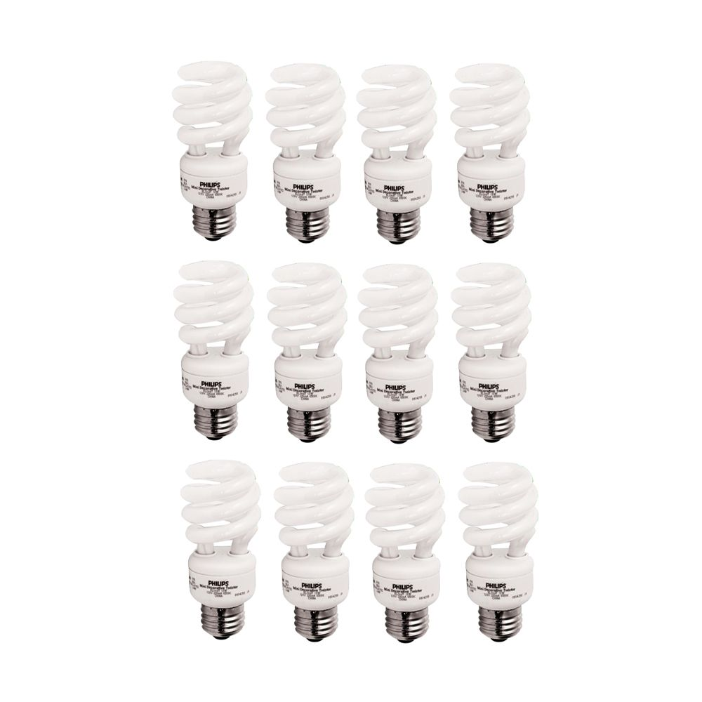 Philips Cfl 13w 60w Mini Twister Daylight 6500k Case