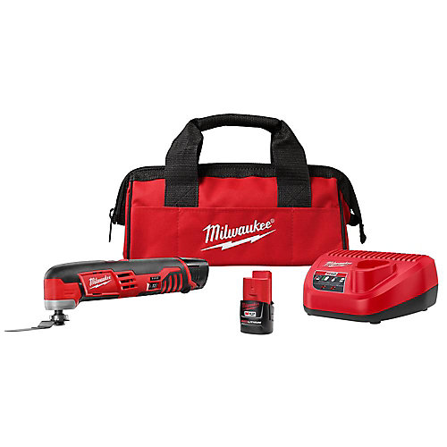 M12 12V Lithium-Ion Cordless Oscillating Multi-Tool Kit W/(2) 1.5Ah Batteries, Accessories, Charger and Tool Bag