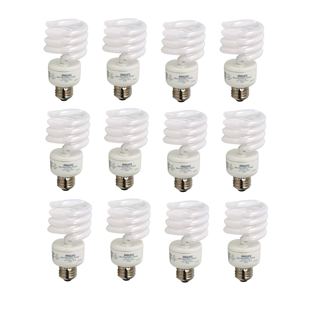 CFL 23W = 100W Mini Twister Soft White (2700K) - Case of 12 Bulbs