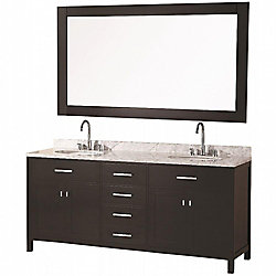 Design Element London 72-inch W x 22-inch D Vanity in Espresso with Mirror