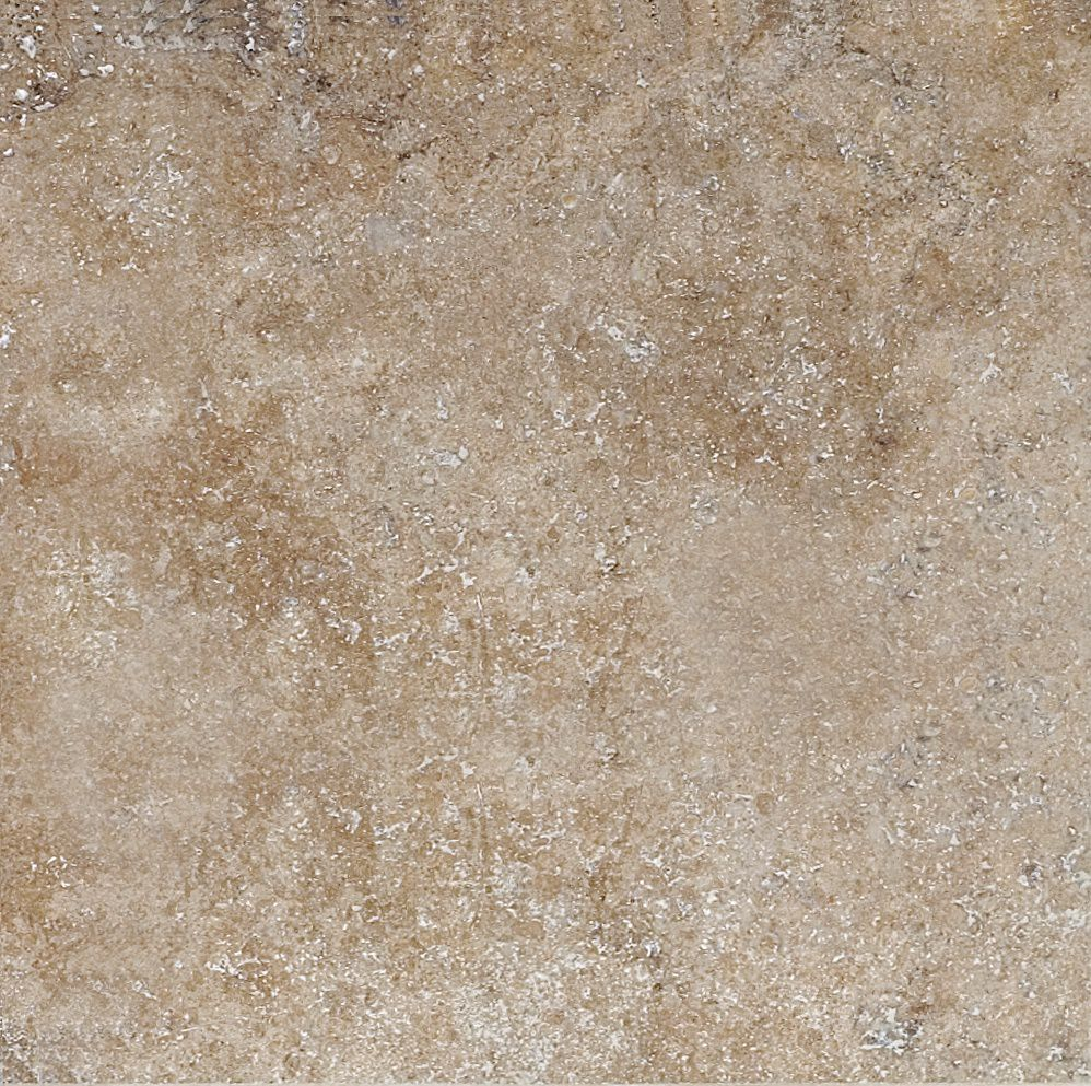 16-Inch x 16-Inch Travertine Straight Edge and Brushed Tile in Castello (7.12 sq. ft./case)