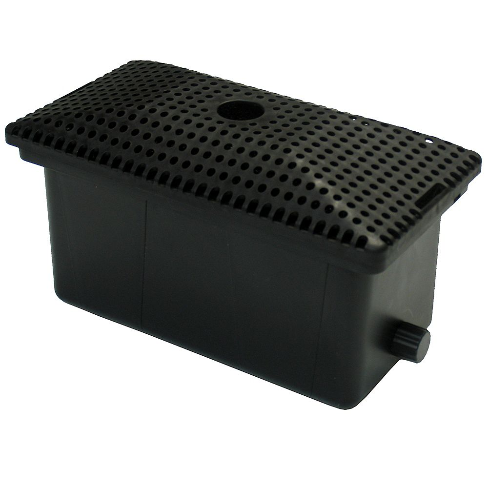Angelo Décor Pond Filter Box 600, 5 Stage Mechanical and Biological Filters, For Pumps up to 1250gph