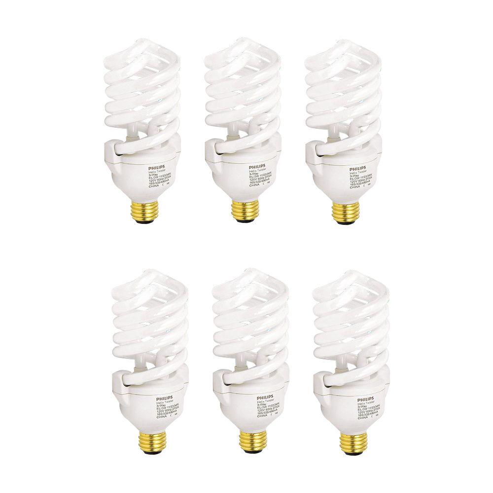 CFL 11/23/34W = 50/100/150W Trilight Soft White (2700K) - Case of 6 Bulbs