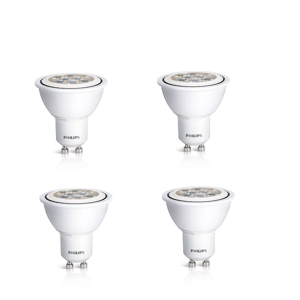 LED 6W = 50W GU10  Bright White (3000K) - Case of 4 Bulbs
