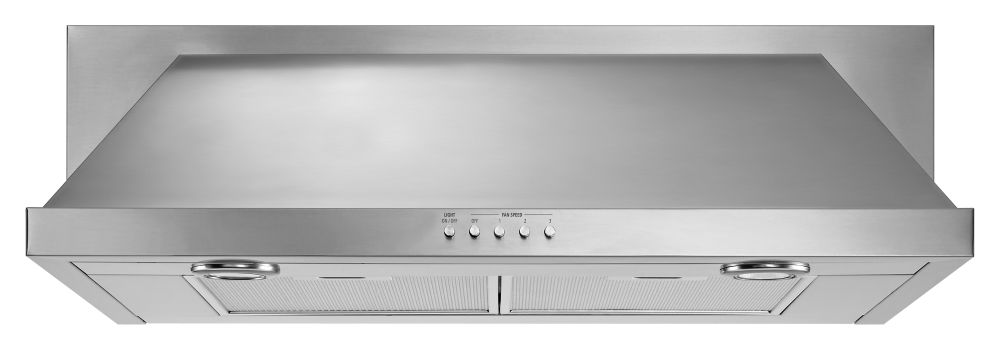 Whirlpool 30-inch, 400 CFM Convertible Under Cabinet Range Hood in Stainless Steel