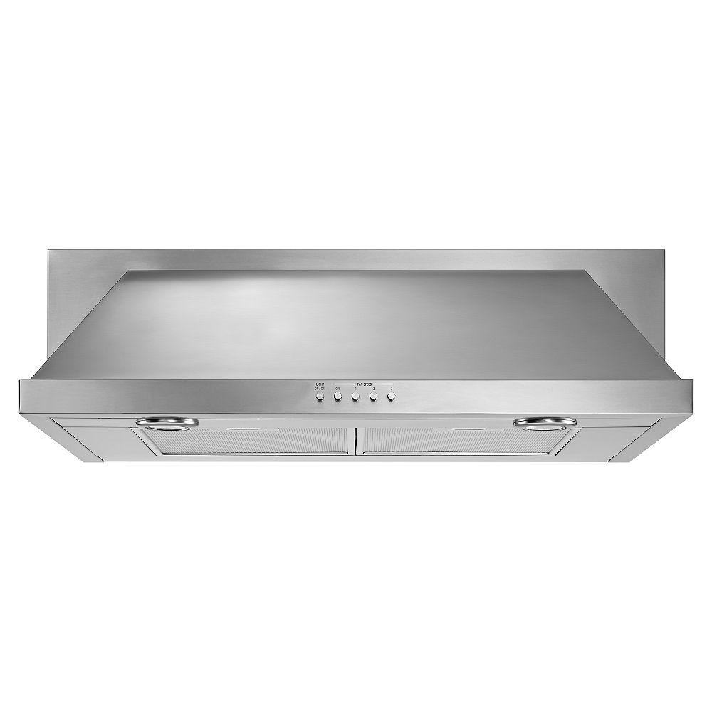 Whirlpool Hotte de cuisinière de 30 po en acier inoxydable sous l'armoire