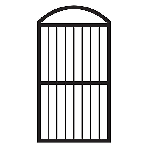 Arched Fence Gate in Black Finish