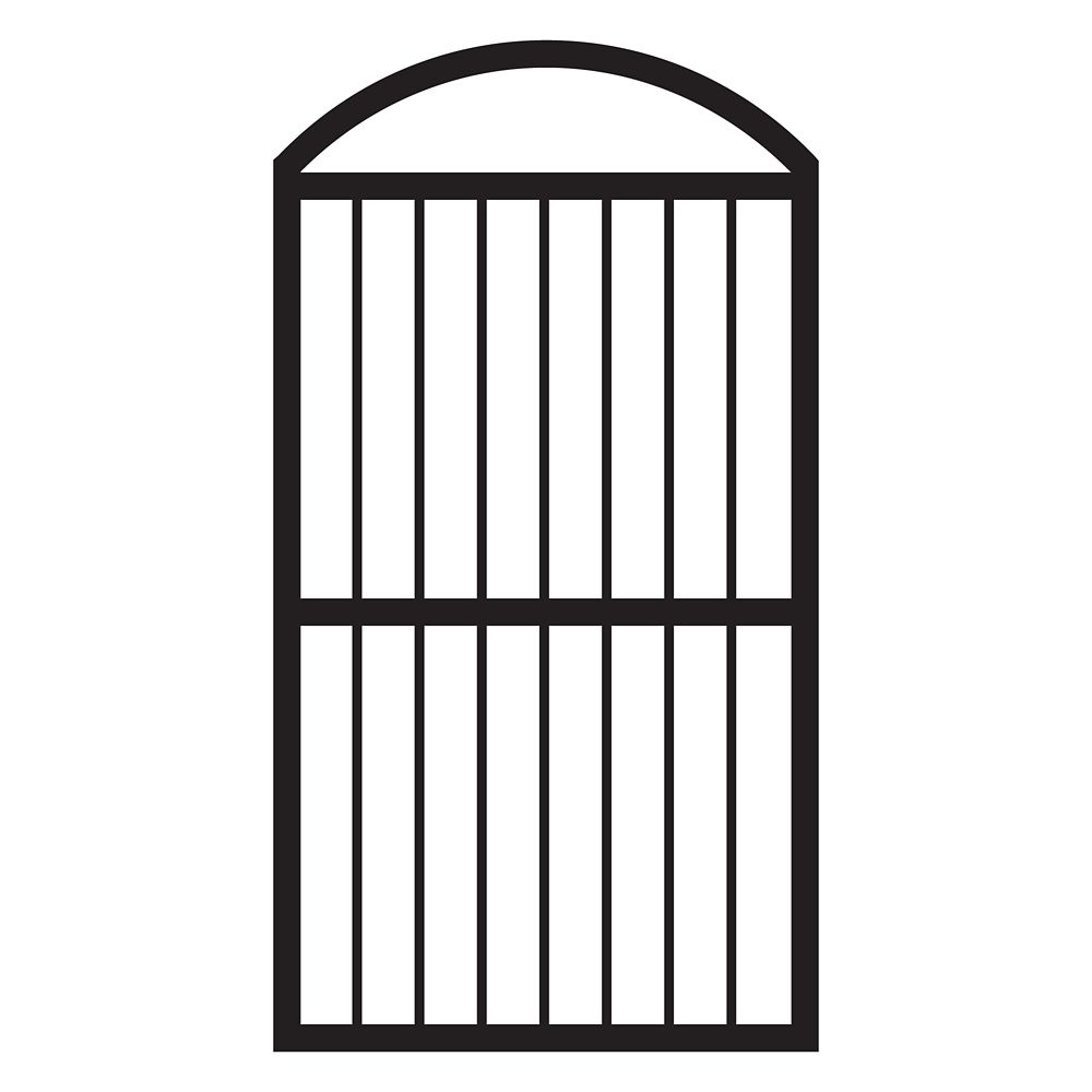 metal fence gate. Arched Fence Gate In Black Finish Metal D